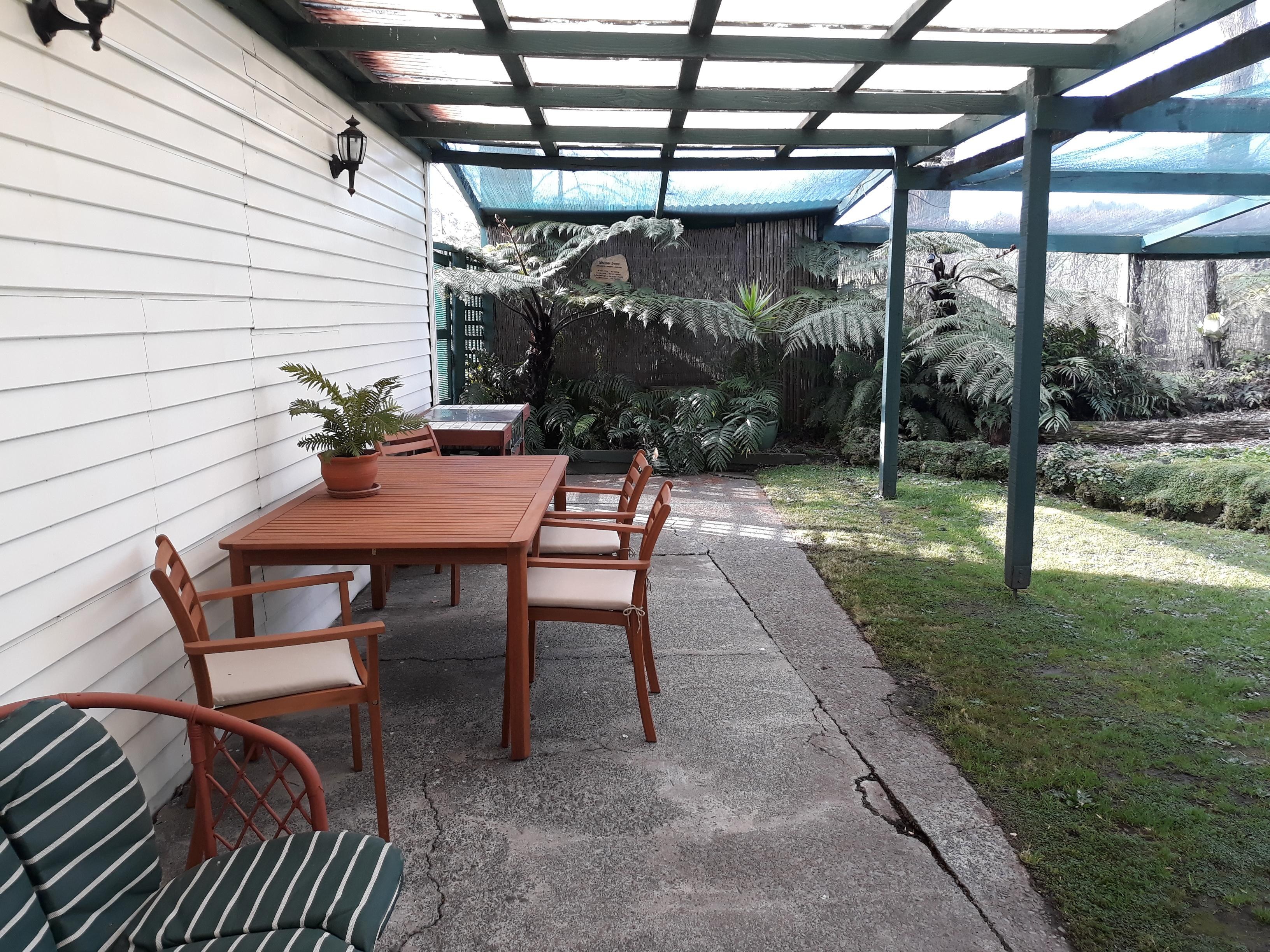 Fly Fishing Accommodation - Outdoor Seating